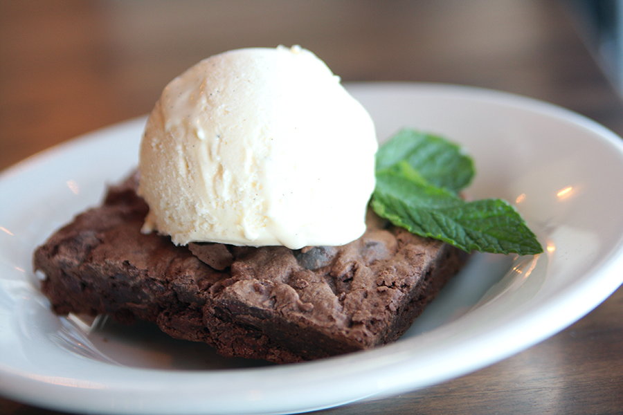 Bourbon Pecan Brownie
