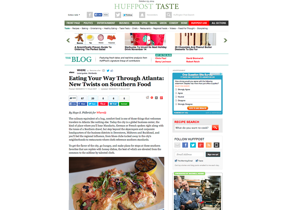 HuffPost TASTE - Eating Your Way Through Atlanta: New Twists on Southern Food