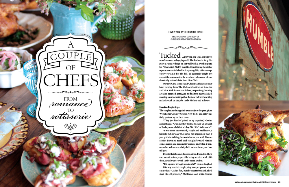 Points North, February 2015 - A Couple of Chefs; From Romance to Rotisserie