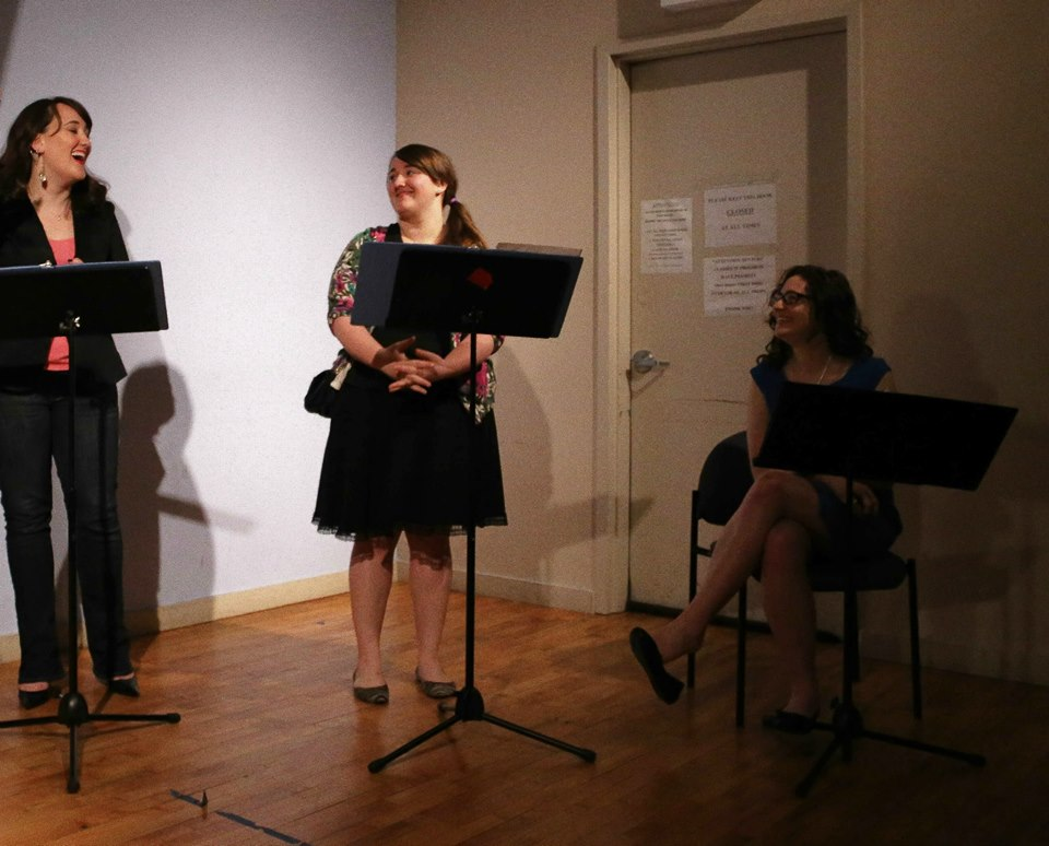 Emily Cannon-Brown, Bonnie Cannon-Brown, and Jill Wurzburg performing original short plays by Khana Itkis