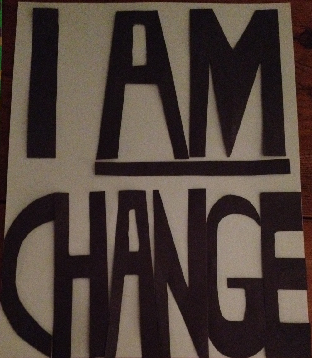 This sign was custom-made by Bewilderers from a design by a friend of ours at Artists 4 Change