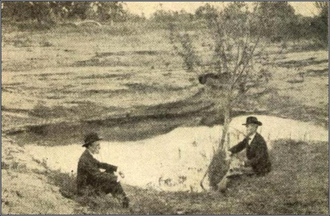 This authentic photograph from the 1850's portrays the pool near Little Rocky Creek in Washington County, Texas, where Dr. Rufus Columbus Burleson, immersed General Sam Houston.