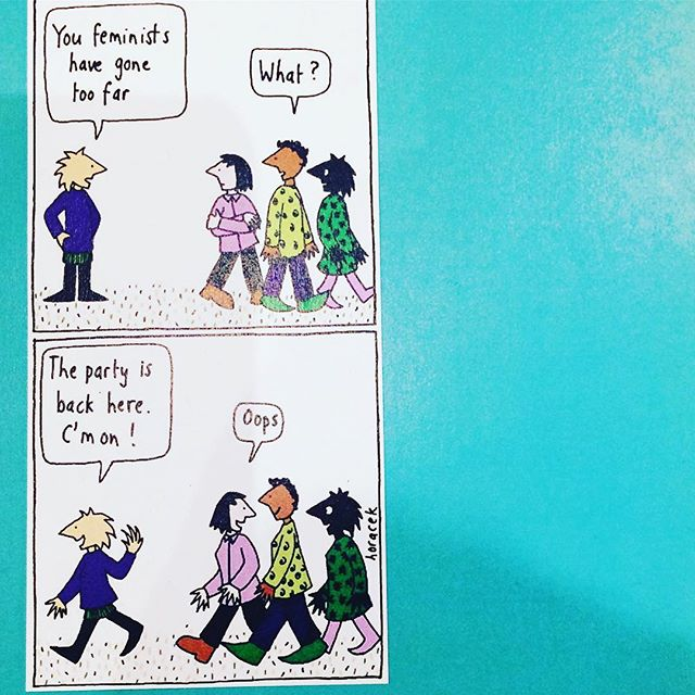 The great @judyhoracek #feminists #party