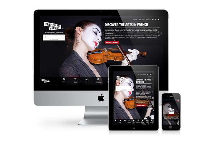 French Street responsive website