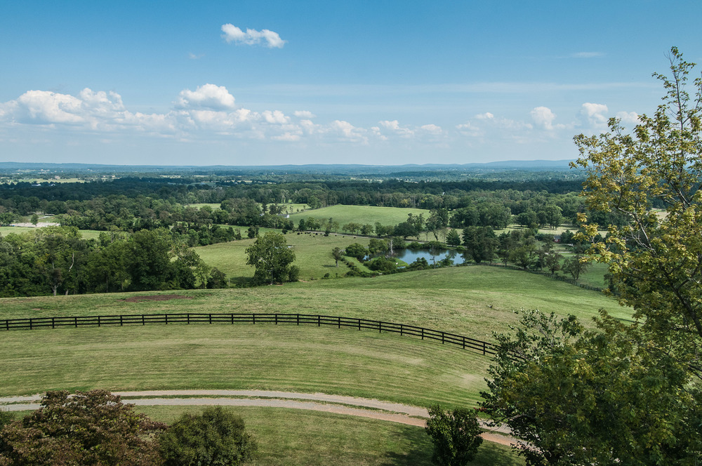 50-mile view overlooking the DC's Wine Country.