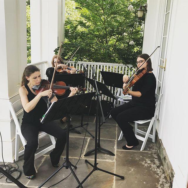 @atokastringquartet played beautifully @highholdborne ! Nothing is better than a string quartet to set the mood for your big day. Great job ladies! #highholdborne #dcbride #virginiabride #marylandbride #weddinginspo