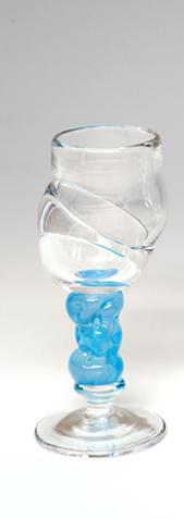Bubblicious drammeglass blå