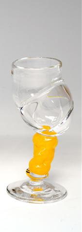 Bubblicious drammeglass gul