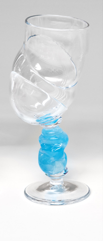 Bubblicious vinglass blå