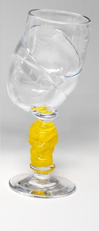 Bubblicious vinglass gul