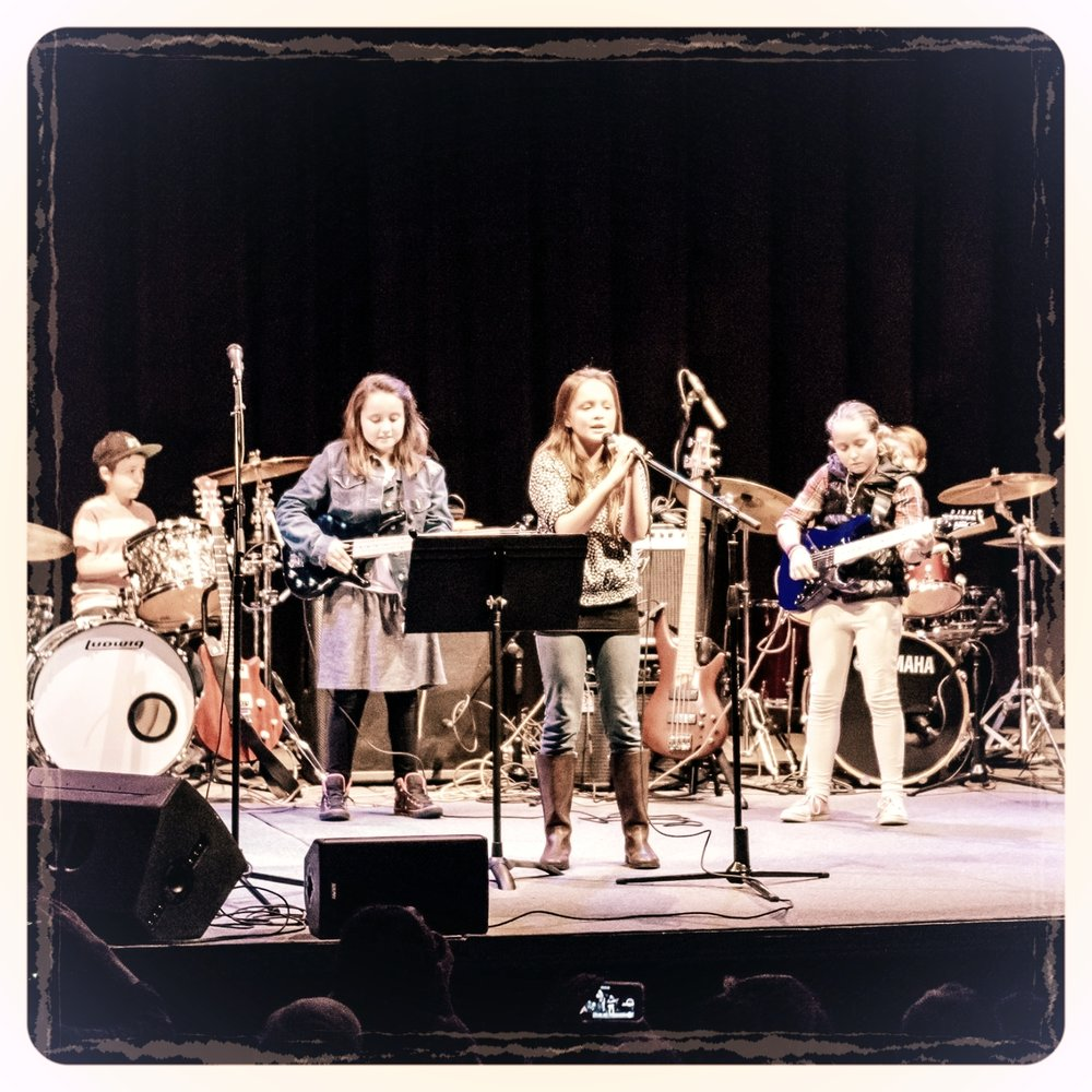 A student band performing at the Winter 2017 Recital. Photo credit: Tim Sullivan Photography