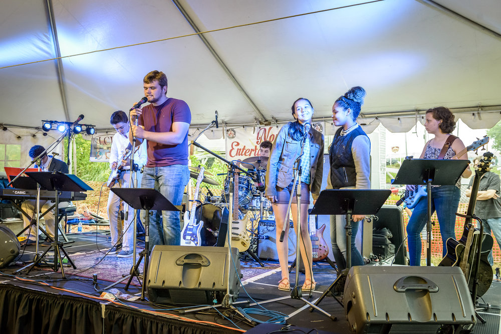 Photo credit: Tim Sullivan Photography  | Midcoast Music Academy students take the stage at the 2018 Lobster Fest