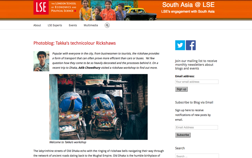 LSE South Asia Blog, January 2015