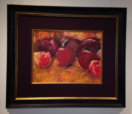 Framed Painted Picture of Fruit