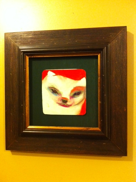 Wood Frame of Dog Painted Portrait