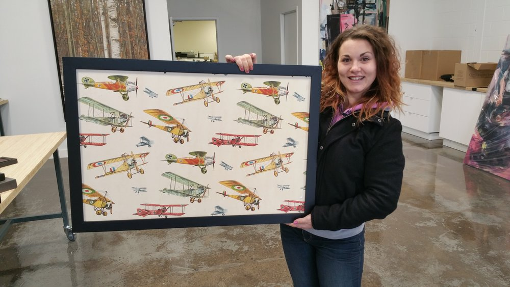 How much fun is this birthday gift? This is a slab of drywall from a bedroom renovation with the old wallpaper still attached. What a great souvenir of a childhood well spent!