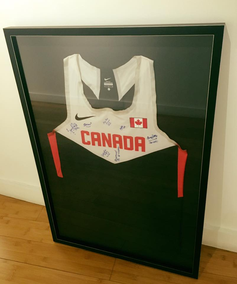 Olympic Canadian Jersey Framed with Signatures