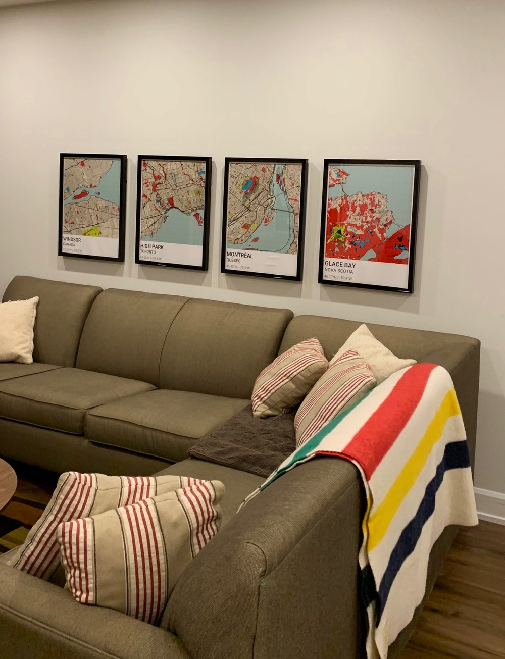 Four Wall Frames - above couch