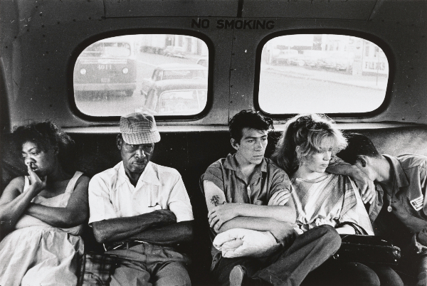 Bruce Davidson, Sitting in the Back of the Bus (Brooklyn Gang series), 1959. Gelatin silver print, 11  x 14 in. Gift of Saul E. Levi, 2013. The Phillips Collection, Washington, DC