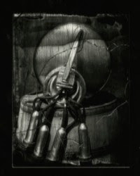 The surface of a wet plate negative. Image courtesy of Margaret Adams.