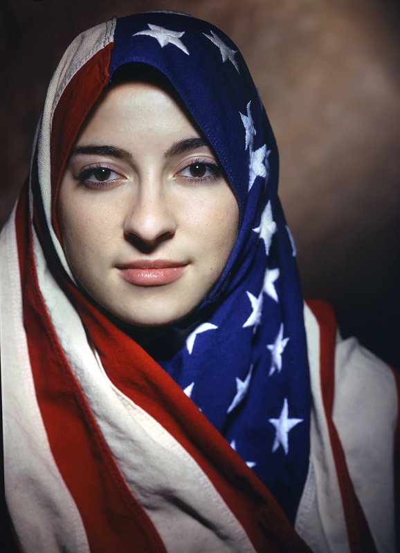 "Boushra Almutawakel, Untitled, from the series ""The Hijab,"" 2001; Chromogenic print, 47 1/4 x 39 3/8 in.; Courtesy of the artist and the Howard Greenberg Gallery"