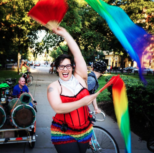 INSTAGRAM OF THE MONTH: June was a great month for photography. We loved all of the #FacesofPride photos in our feed. Especially this one from @dcitycyclist!