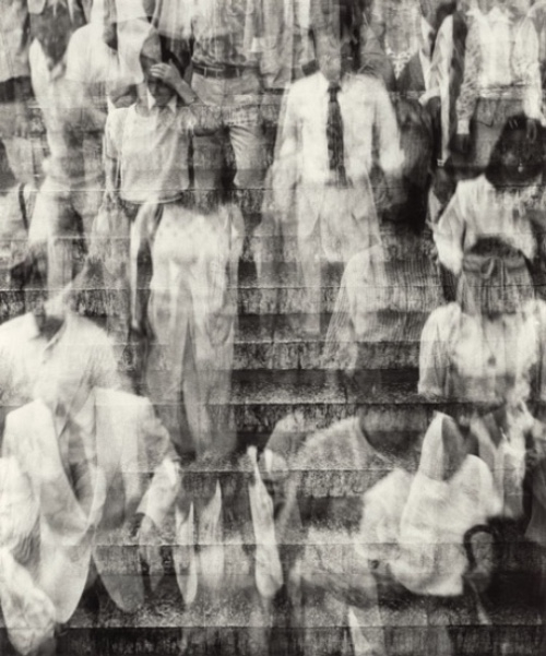 Shōmei Tōmatsu, Rush Hour, Tokyo, 1981, gelatin silver print, National Gallery of Art, Corcoran Collection (Gift of Michael D. Abrams), 2015