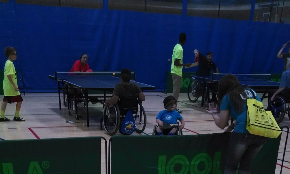Watching the table tennis matches at the 2014 Endeavor Games, UCO.