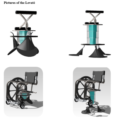 Levaté is a 12 inch lift for manual chairs for extra reach at home, the office, or a store