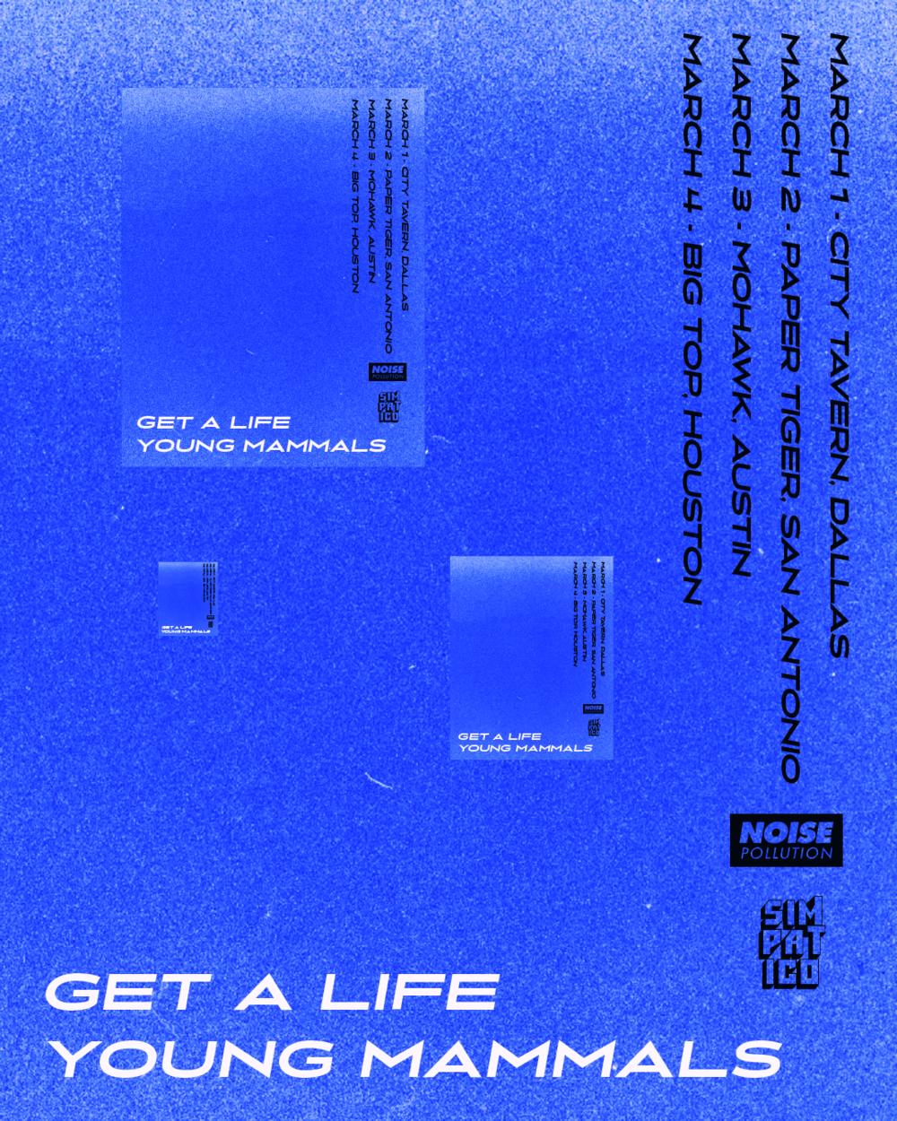 Get a Life/ Young Mammals Tour Flyer