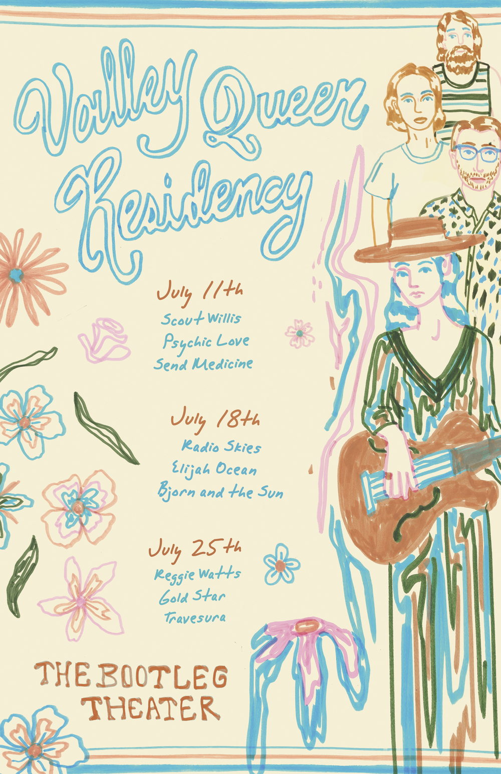 7/01/16 Catch the band headlining their first residency ever at The Bootleg Theater in Los Angeles the last three Mondays of July. Lots of great artists getting together for this one! FREE