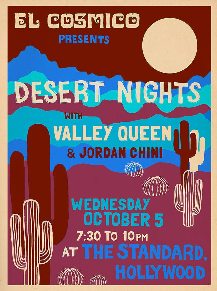 9/22/16 Our last show in Los Angeles for awhile before hitting up Arizona in October and the West Coast in November. Come chill and enjoy the stripped down desert vibes! RSVP// Facebook Event