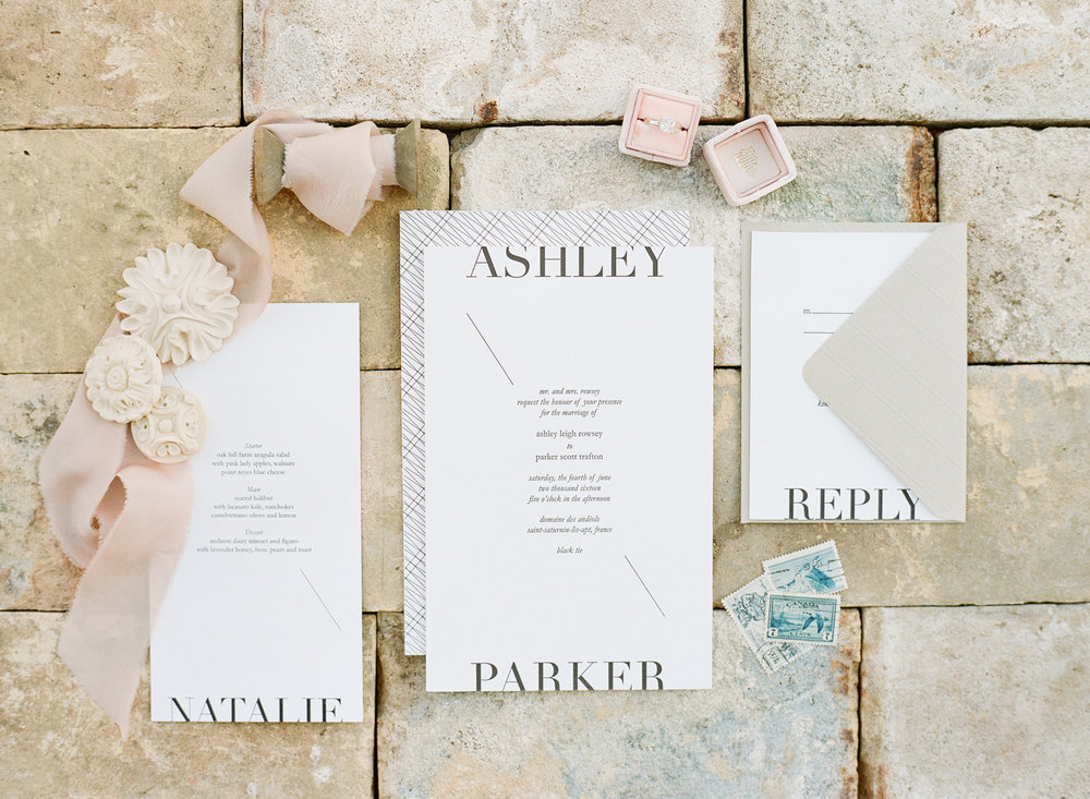 Yonder Design invitation suite; Sylvie Gil Photography