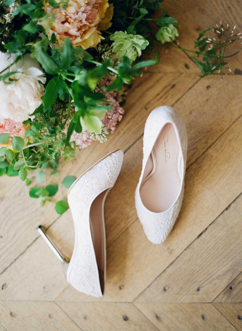 Oscar de la Renta lace pumps; Sylvie Gil Photography