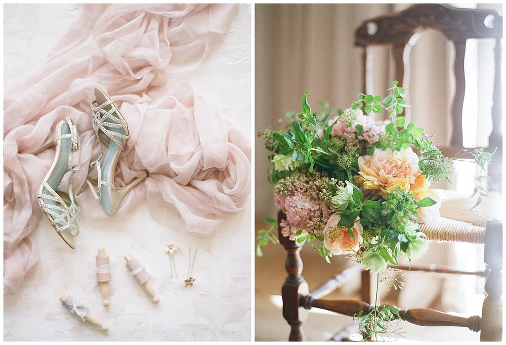 Dusty pink tulle details and florals from the 2016 and 2017 Workshops; Sylvie Gil Photography