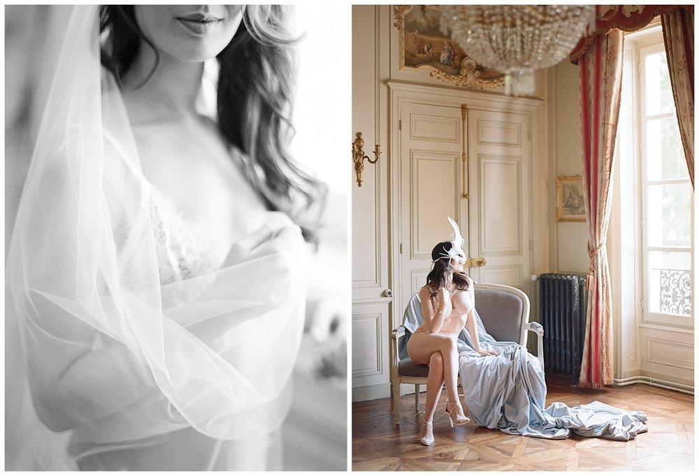 Boudoir sessions at Chateau de Varennes; Sylvie Gil Photography