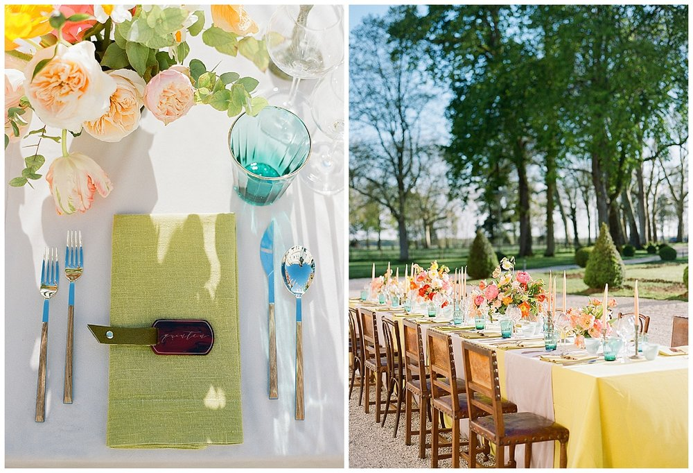 Jewel-toned welcome dinner details from the 2016 Workshop; Sylvie Gil Photography
