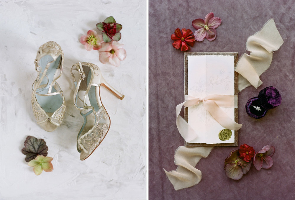Details from a bridal shoot at Chateau de Varennes, in Burgundy, France; Sylvie Gil Photography