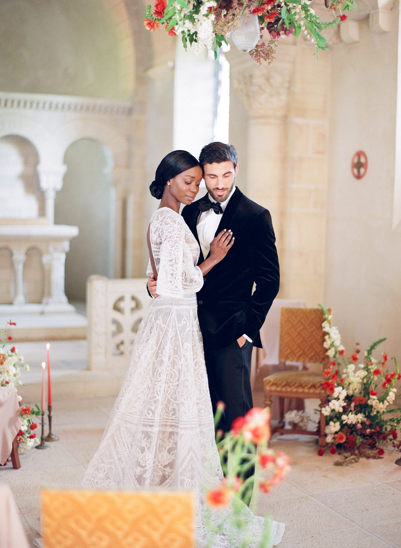 An intimate wedding ceremony at Chateau de Varennes, Burgundy, France; Sylvie Gil Photography