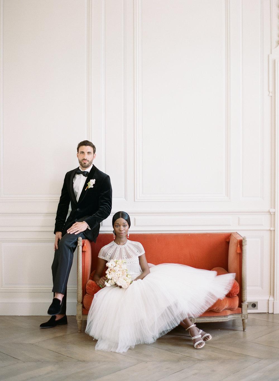 A French couple portrait at Chateau de Varennes; Sylvie Gil Photography