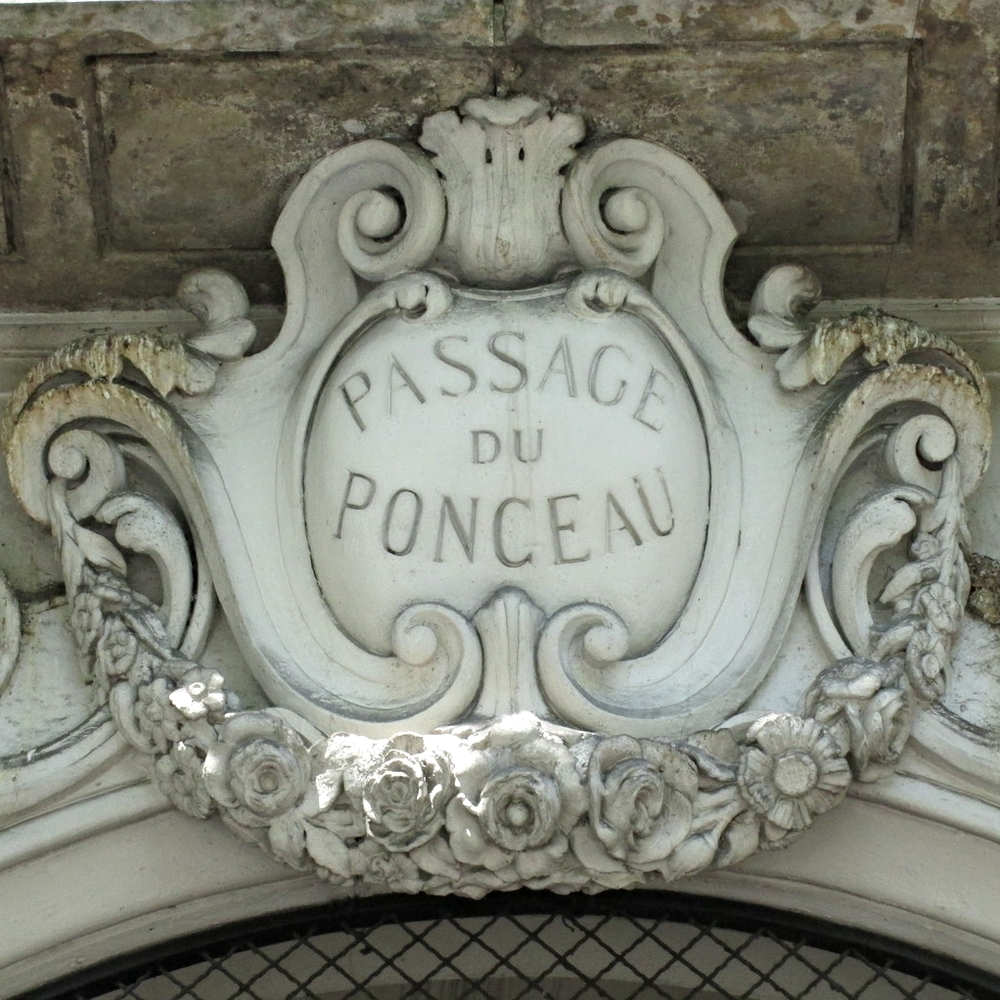 Detail, Passage du Ponceau