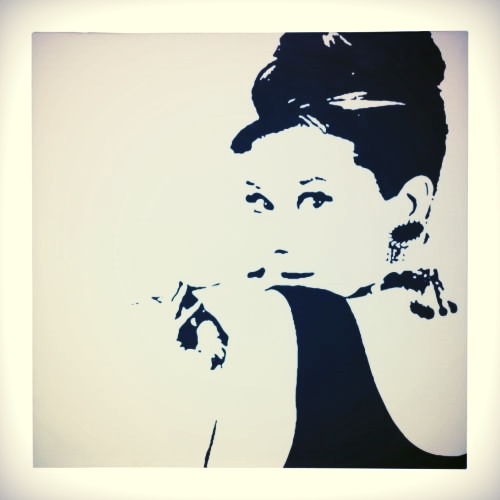 Audrey Hepburn. Pjätteryd canvas print by Phil Handley/IKEA