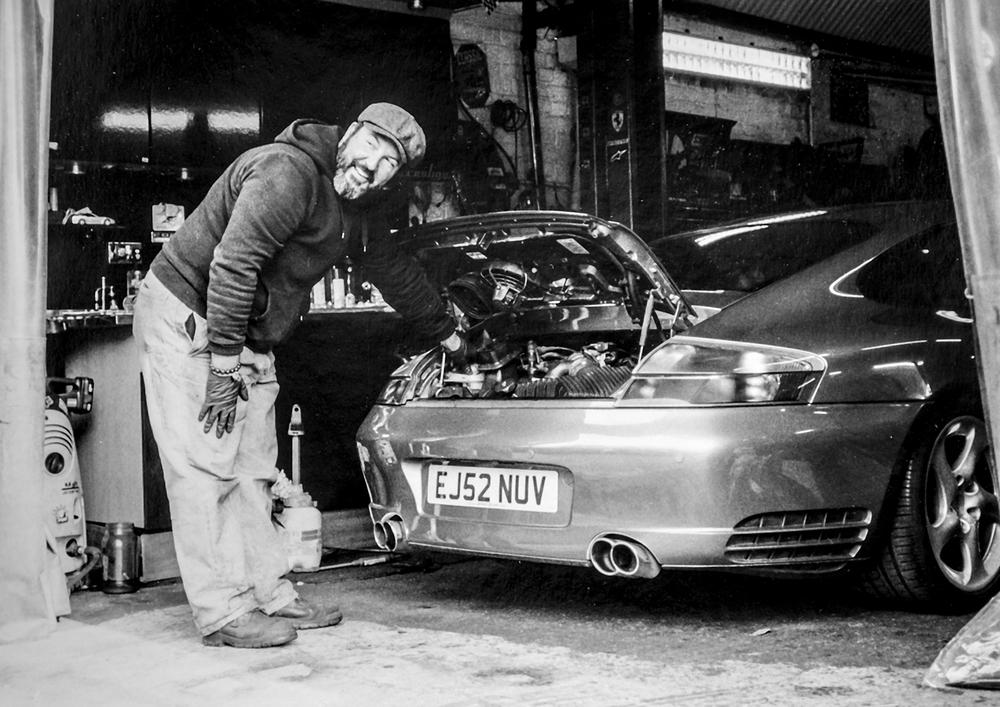 Paul and the Porsche  Prestige Autocare, Huddart Street, Bow E3