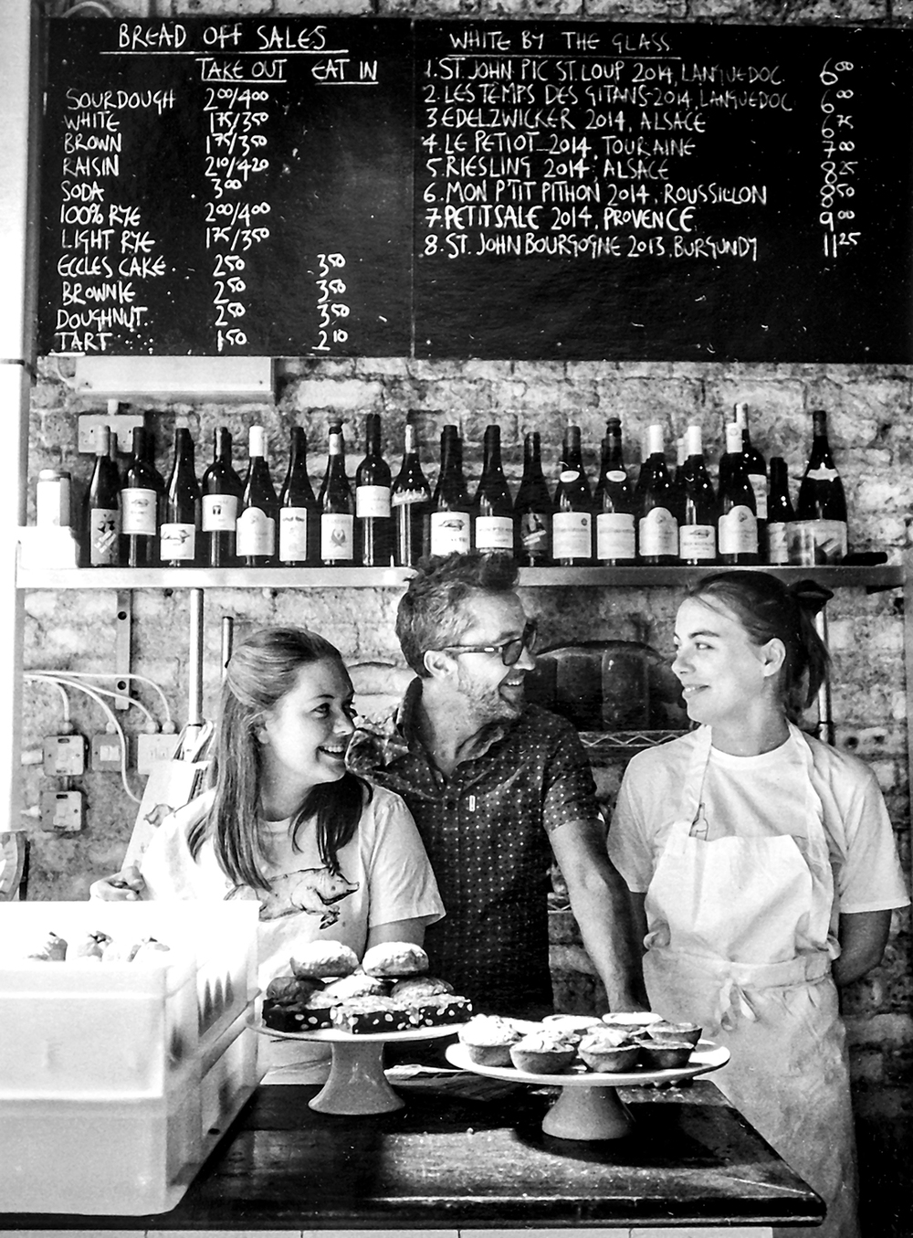 Lucy, Jose and Rosie  St John Restaurant, Ropewalk, Bermondsey SE16
