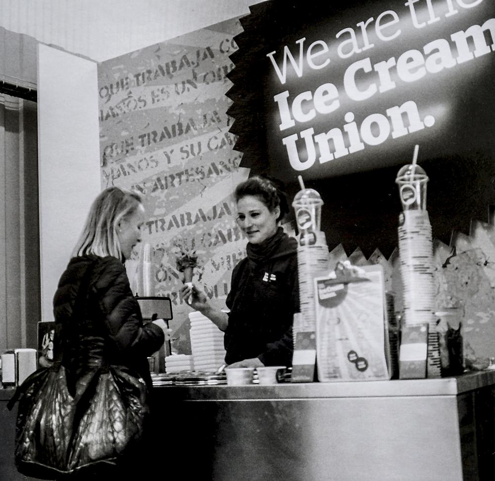 Sara serving cornets   The Ice Cream Union, St James's Road, Bermondsey SE16
