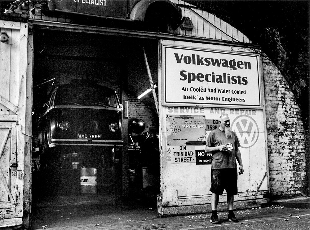 Eddie at KWIKAS VW specialists  Trinidad Street, Limehouse E14