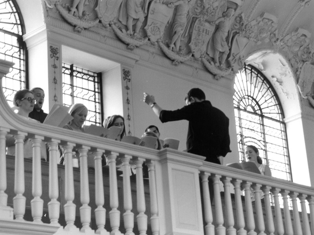 The Iken Scholars rehearsing, St Botolph without Aldgate, EC3