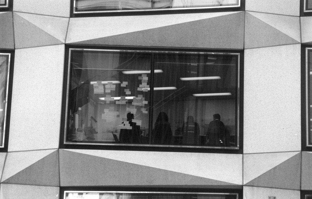 Post-It meeting room, London Wall EC2