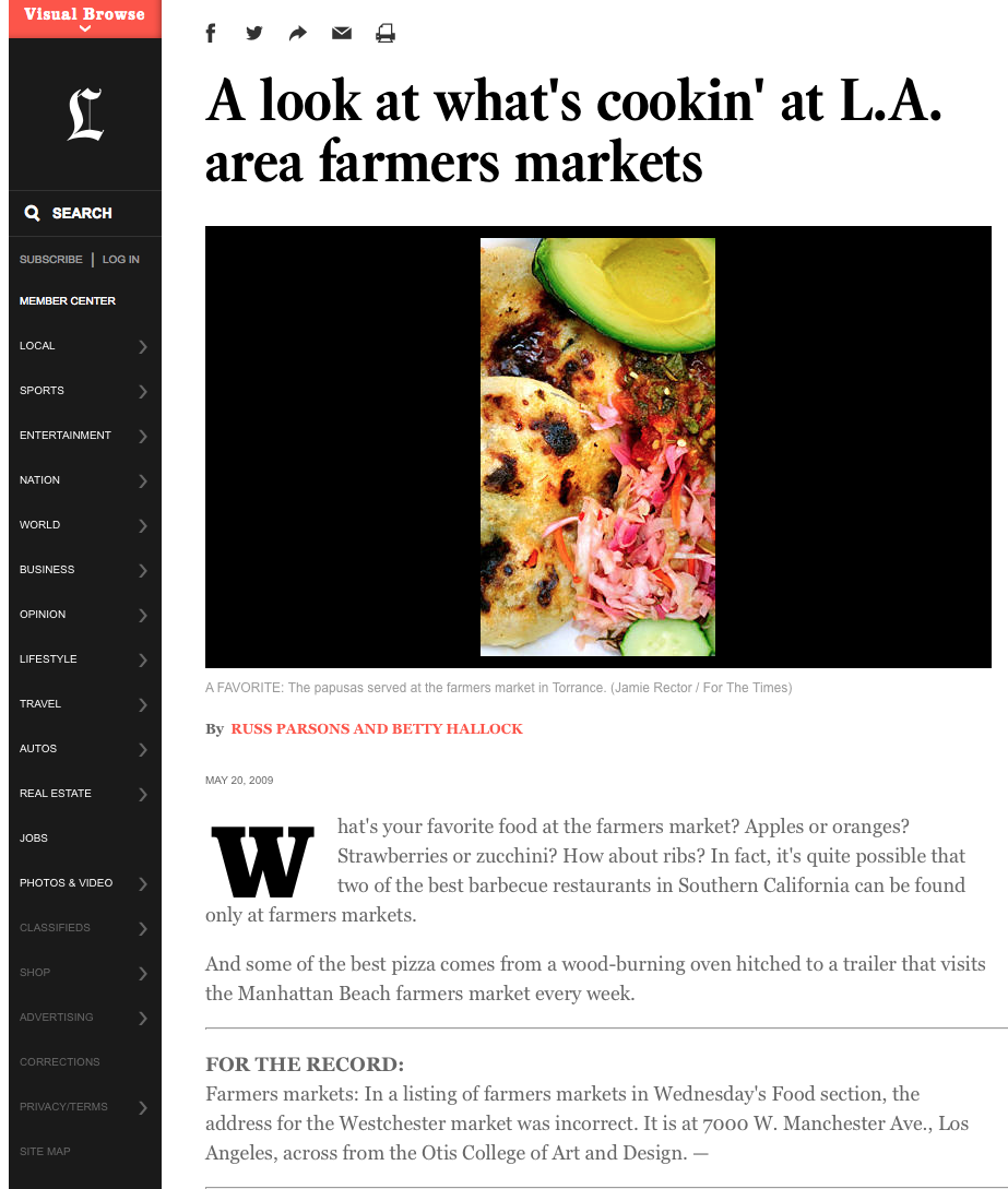 A look at what's cookin' at L.A. area farmers markets