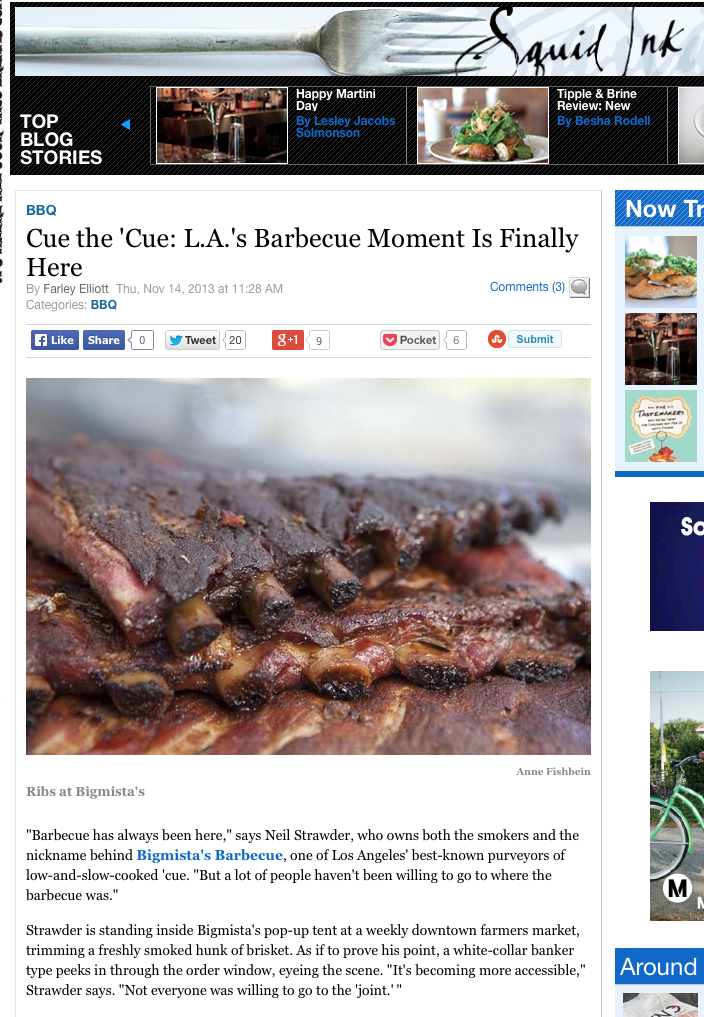 Cue the 'Cue: L.A.'s Barbecue Moment Is Finally Here